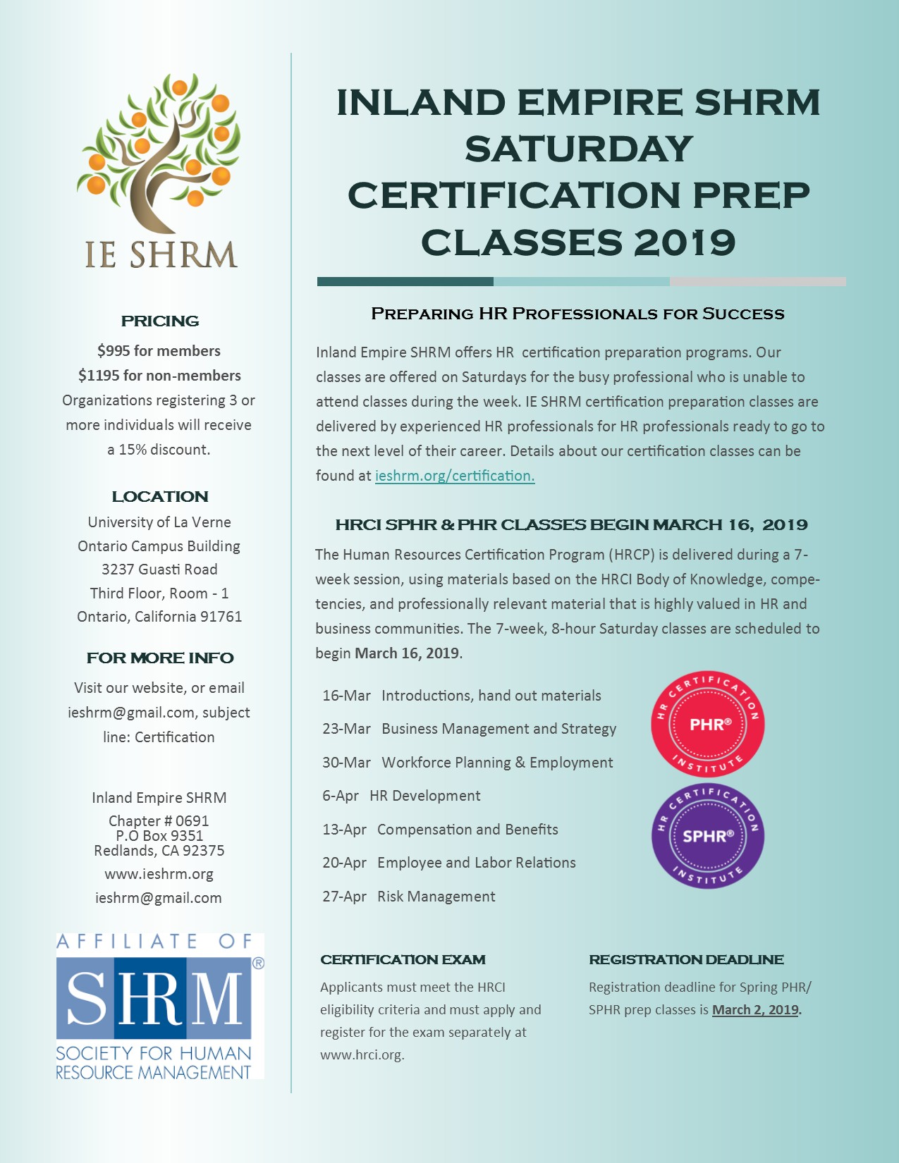 Certification Inland Empire Society For Human Resource Management